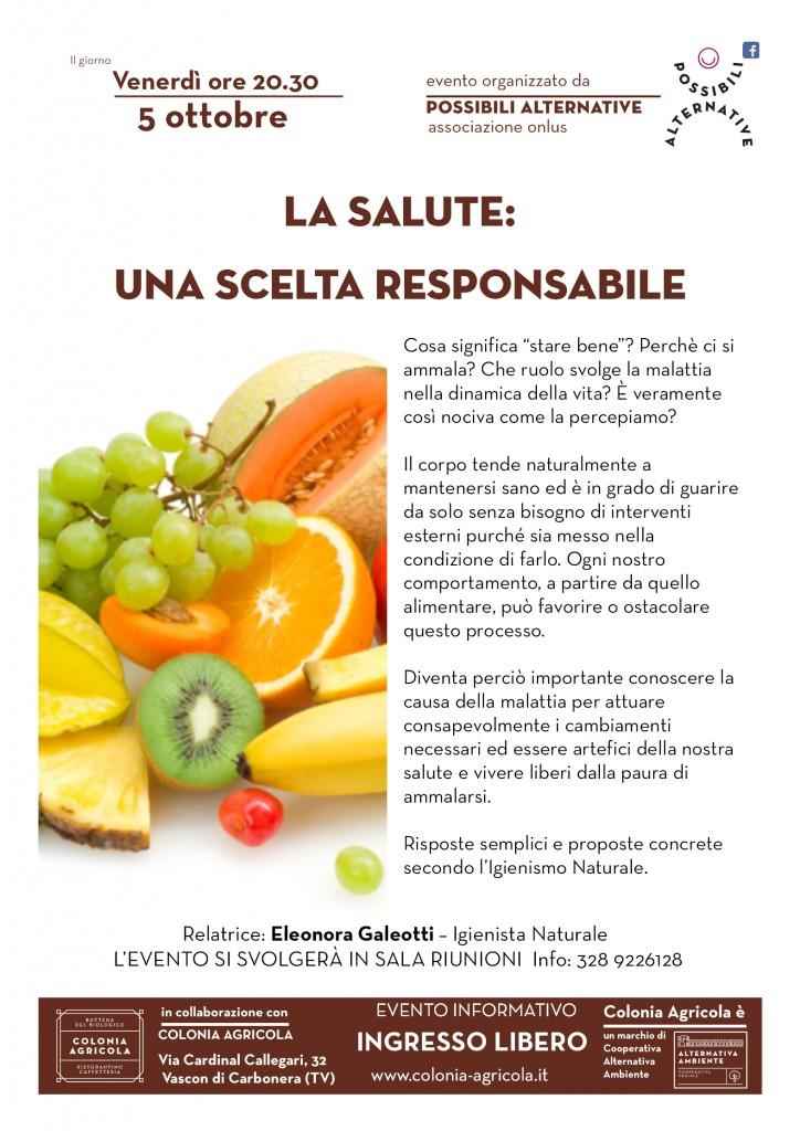 La salute: una scelta responsabile