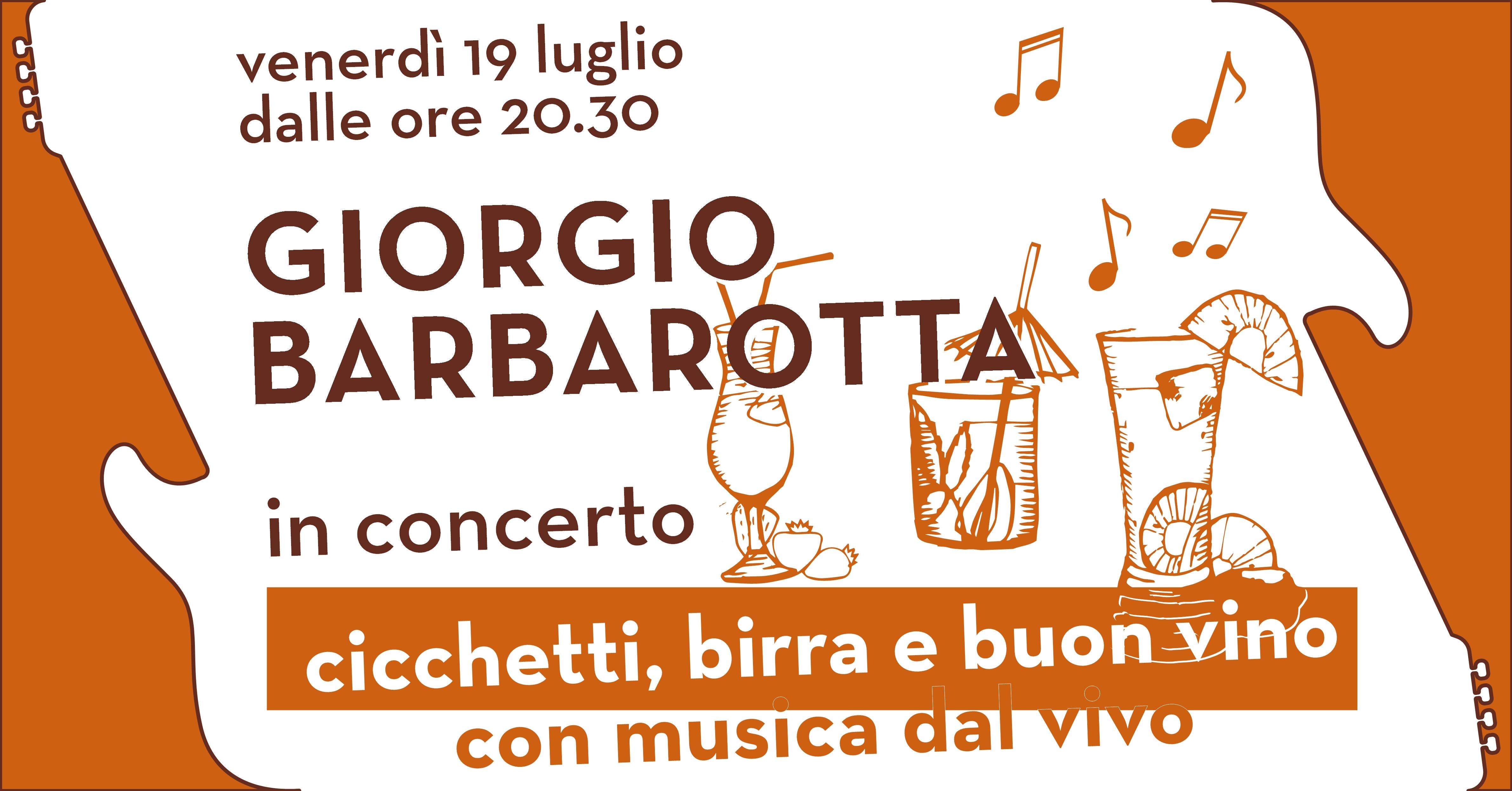 Giorgio Barbarotta concerto copertina