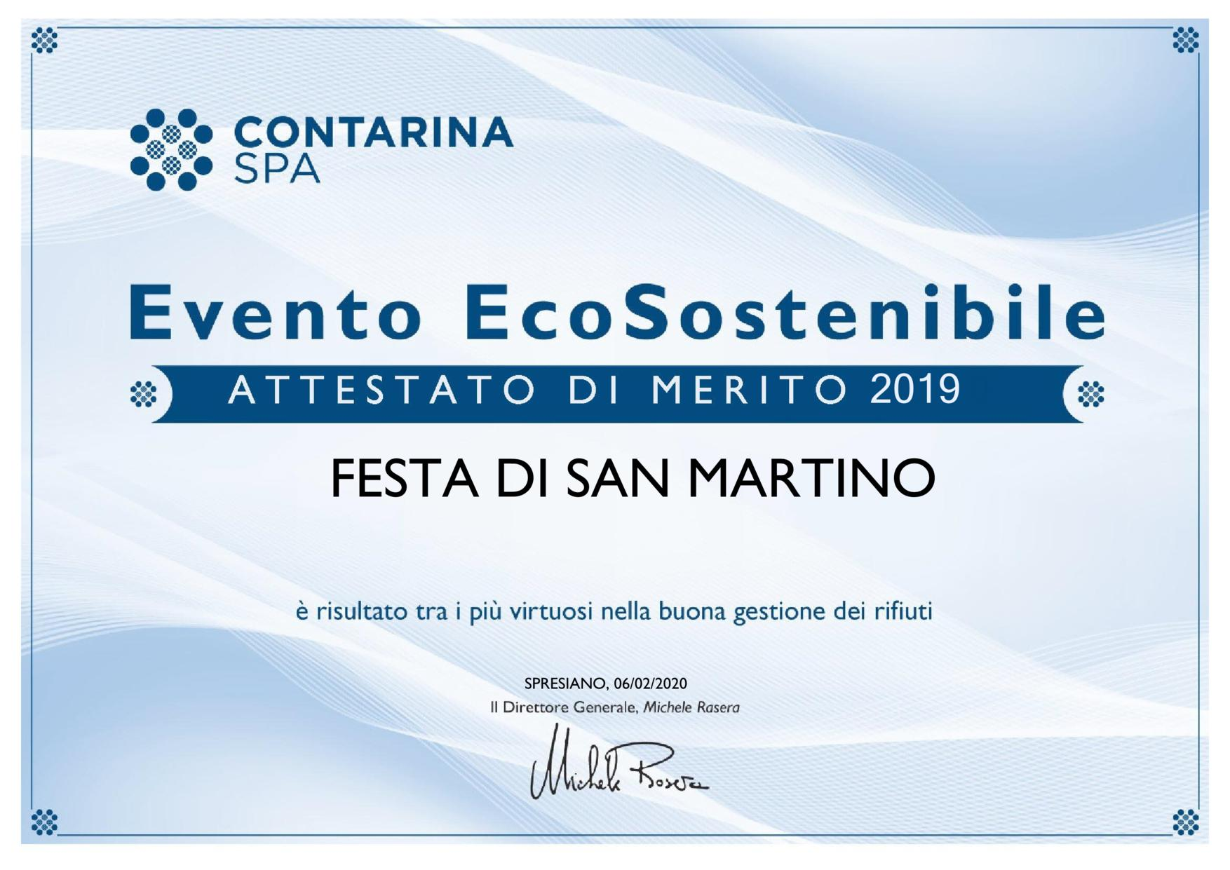 Attestato Evento EcoSostenibile