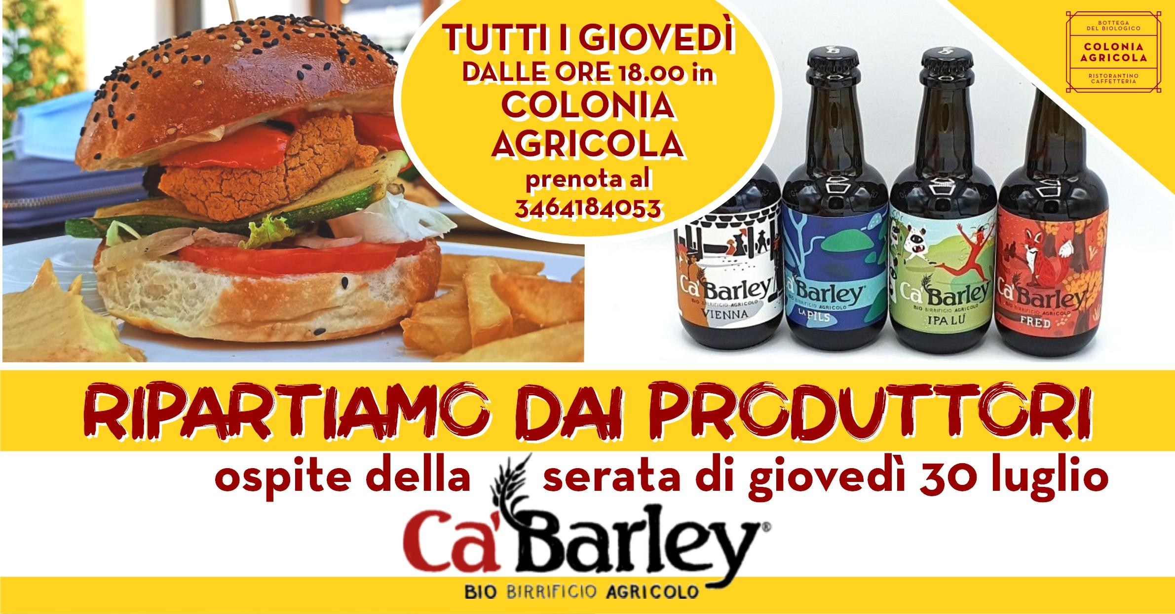 Ripartiamo dai produttori Birrificio Ca'Barley