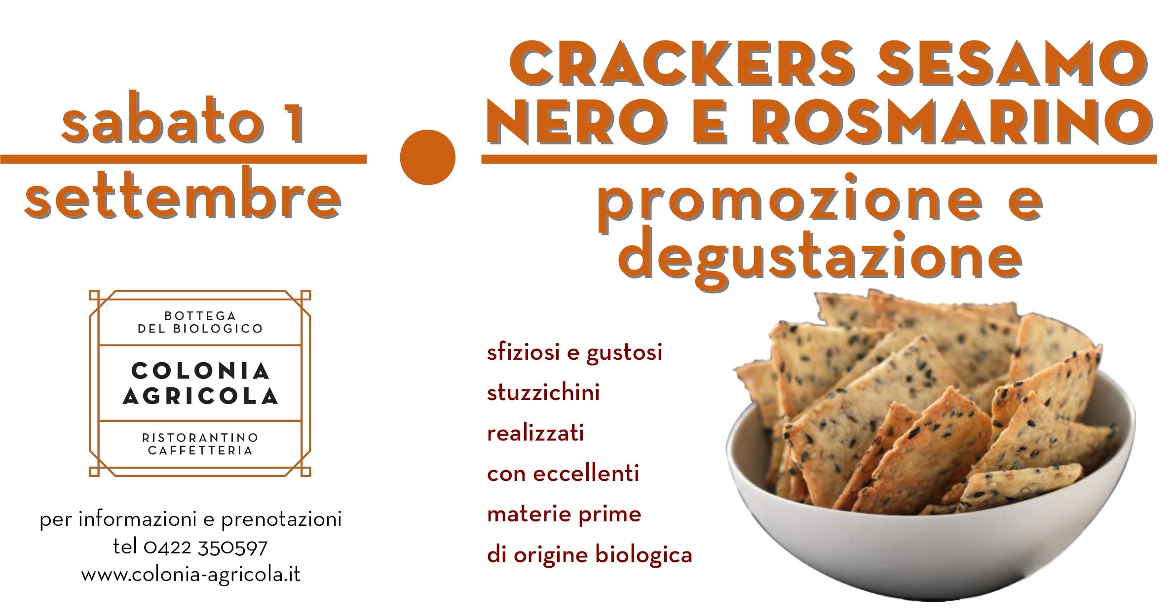 Crackers sesamo nero e rosmarino