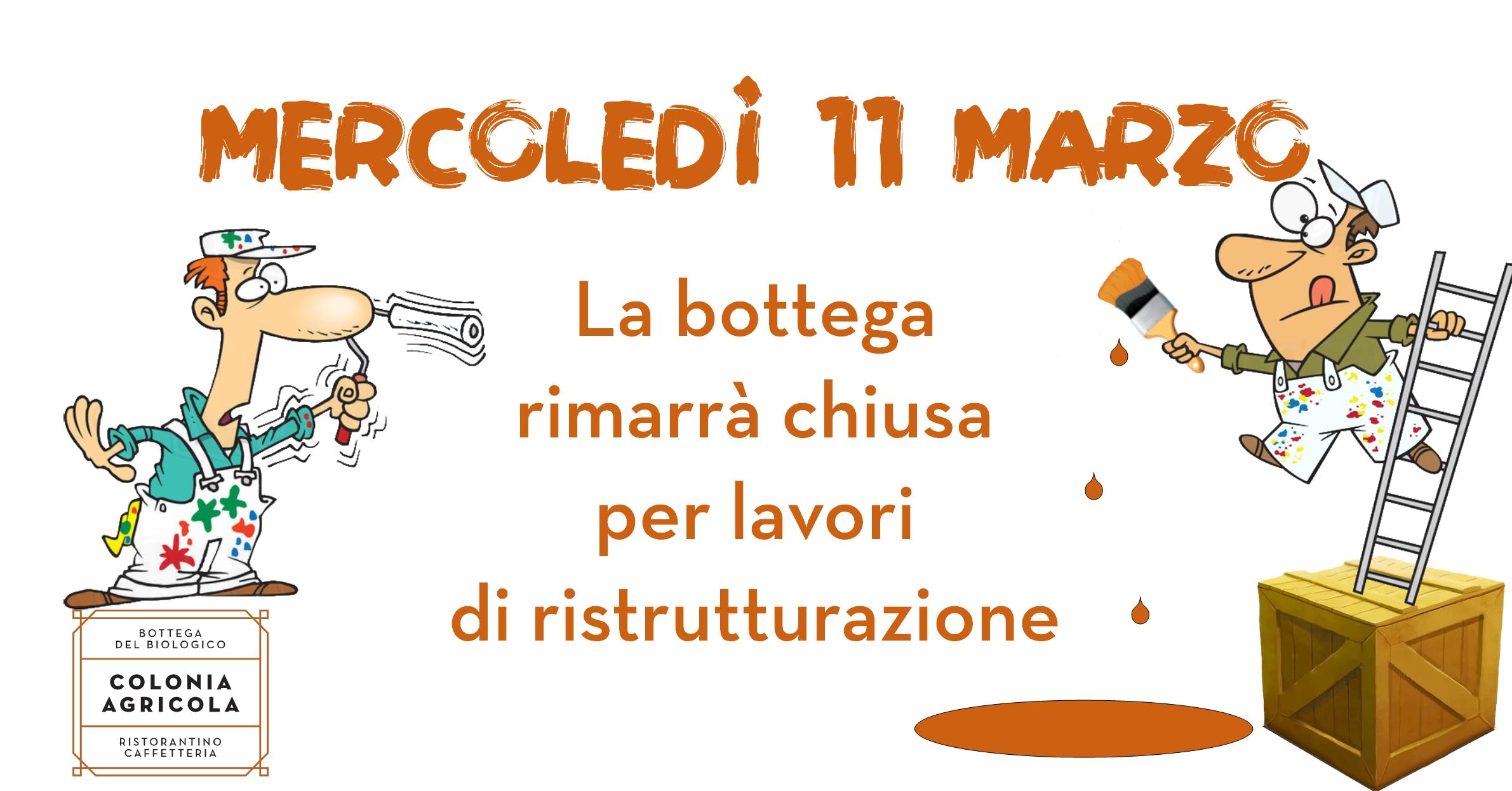 Chiusura Bottega 11 Marzo