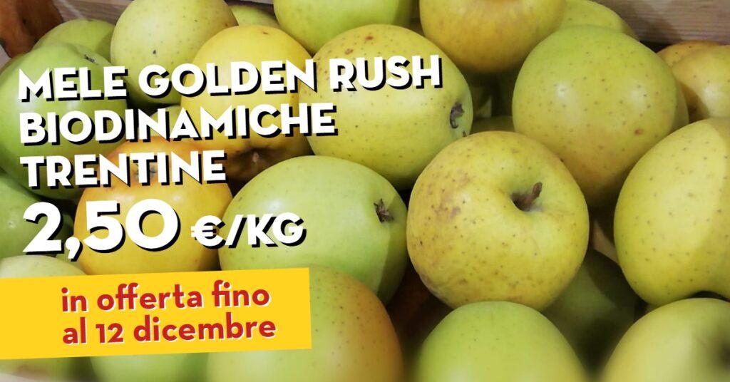 Offerta della settimana: mele golden rush biodinamiche trentine