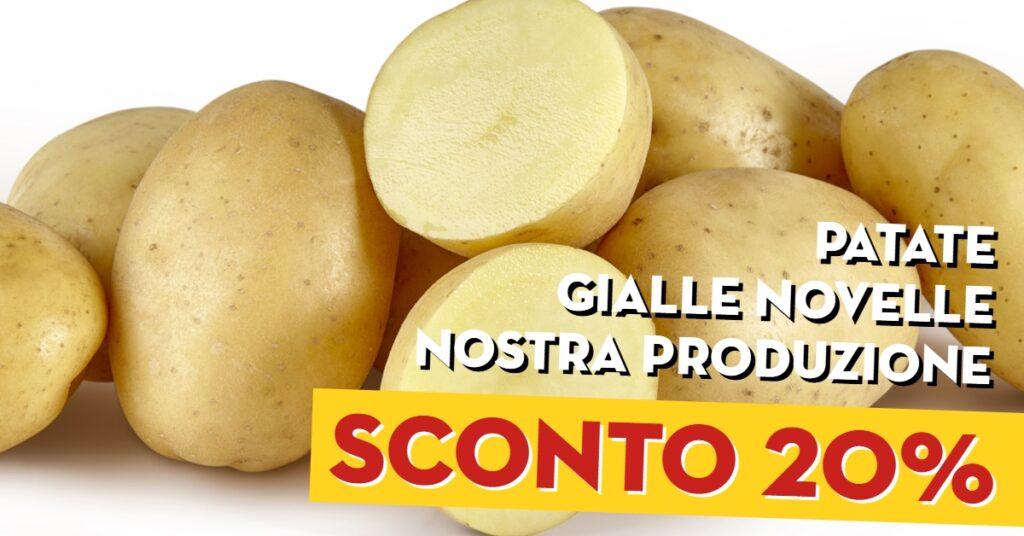 Patate gialle novelle Colonia sconto del 20%